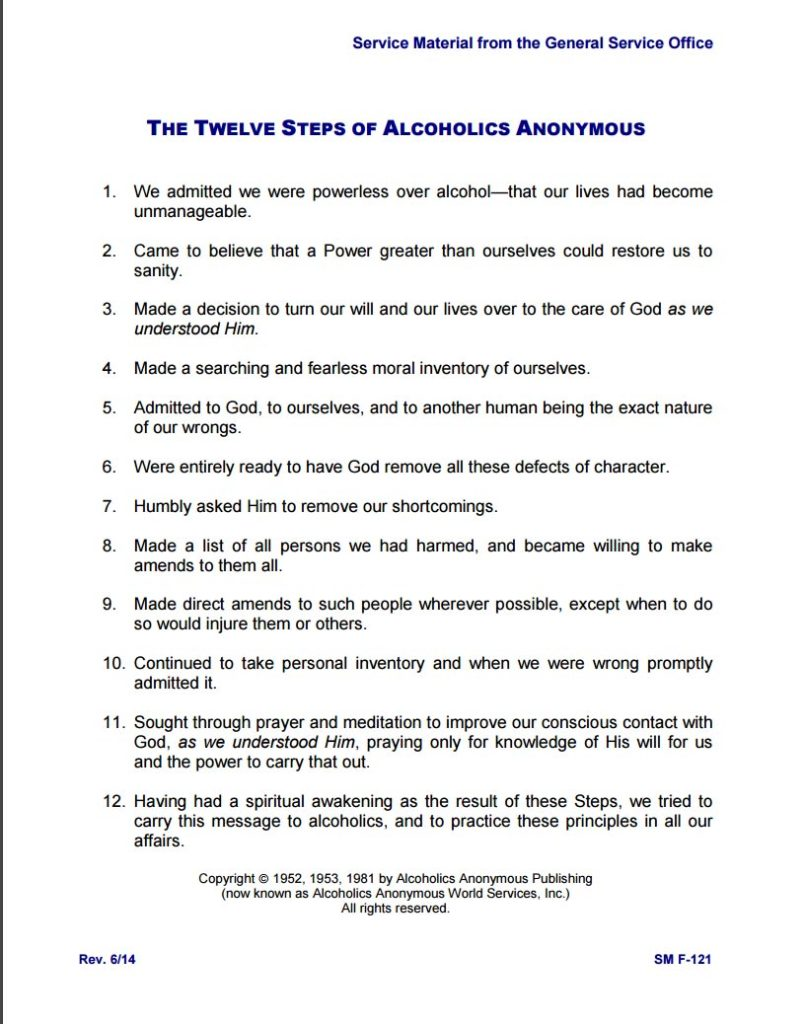 worksheet Step 2 Aa Worksheet aa resources laurel recovery 368 main street maryland alcoholics anonymous 12 steps